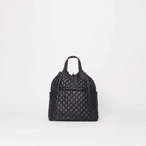 MZ Wallace Metro Convertible Backpack in Black