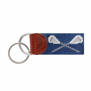 Smathers & Branson Lacrosse Needlepoint Key Fob