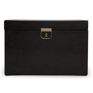 Wolf Palermo Large Jewelry Box in Black