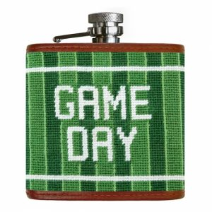 Smathers & Branson Game Day Needlepoint Flask