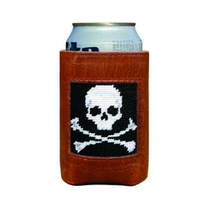 Smathers & Branson Jolly Roger Needlepoint Can Cooler