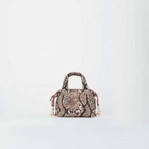MZ Wallace Micro Sutton in Brown Snake Print