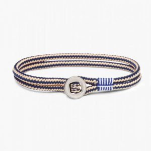 Pig & Hen Don Dino Rope Bracelet in Navy – Sand Silver