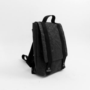 Wren Slim Paper Backpack in Black