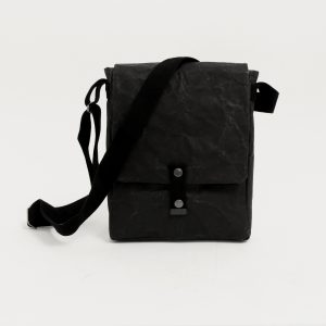 Wren Paper & Cotton Sling Bag in Black