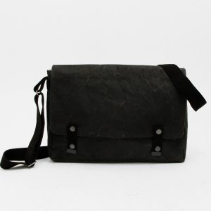 Wren Paper & Cotton Messenger Bag in Black