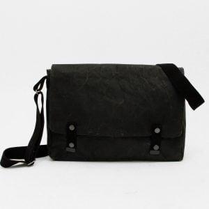 Wren Paper & Cotton Messenger Bag in Black