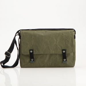 Wren Racing Paper Messenger Bag in Green