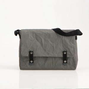 Wren Paper Messenger Bag in Gunmatel