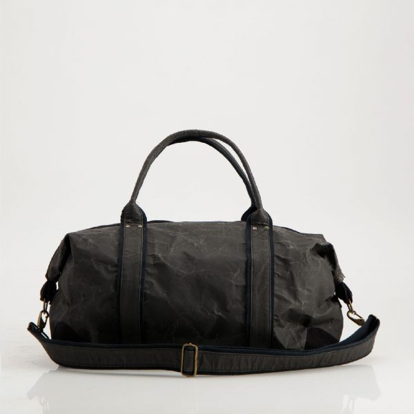 Wren Paper Travel Duffel Bag in Black