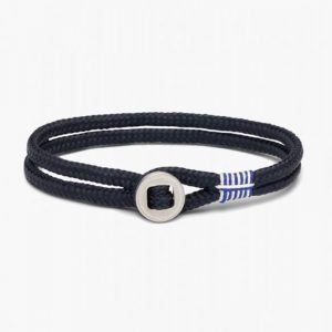 Pig & Hen Don Dino Rope Bracelet in Navy Silver