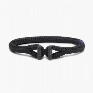 Pig & Hen Icy Ike Rope Bracelet in Black