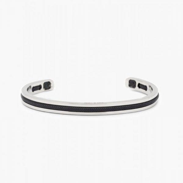 Pig & Hen Navarch 6mm Cuff Bracelet in Navy Silver