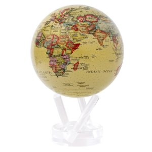 Mova Globe 4.5″ Political Map Yellow with Acrylic Base