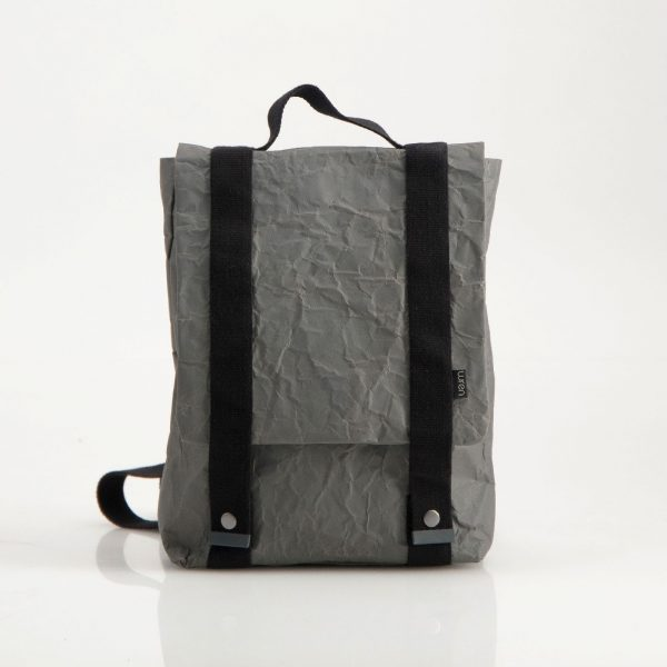 Wren Slim Paper Backpack in Gunmetal