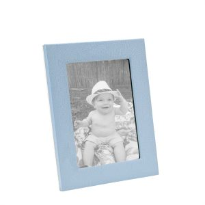Graphic Image 5″ x 7″ Studio Frame in Light Blue Full Grain Leather