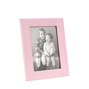 Graphic Image 5″ x 7″ Studio Frame in Light Pink Full Grain Leather