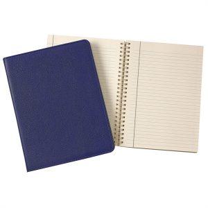 Graphic Image 9″ Wire-O-Notebook in Indigo Goatskin Leather