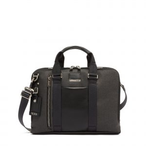 Tumi Alpha Bravo Aviano Slim Brief in Graphite
