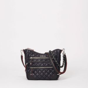 MZ Wallace Small Crosby Hobo in Black