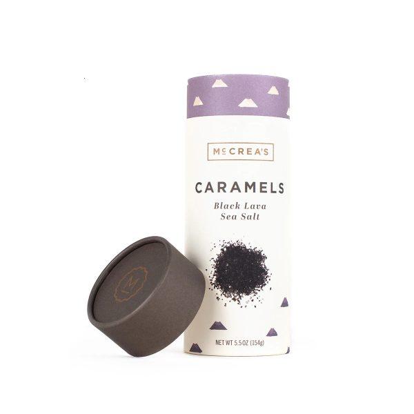 McCrea's Candies Caramels Black Lava Sea Salt Tube