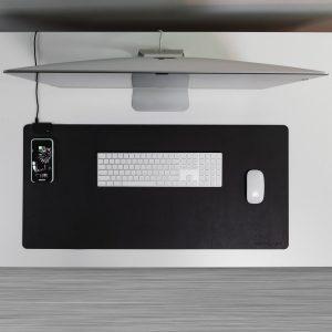 KeySmart Taskpad Wireless Charging Desk Pad – Black
