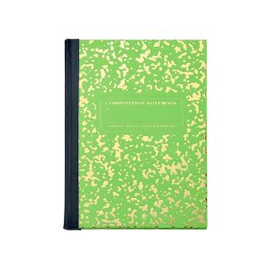 Graphic Image Composition Notebook in Lime