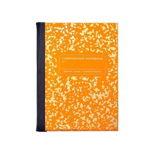 Graphic Image Composition Notebook in Orange