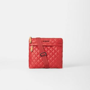 MZ Wallace Metro Flat Crossbody in Red Dahlia