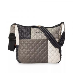 MZ Wallace Parker Adjustable Crossbody in Graphite Patchwork
