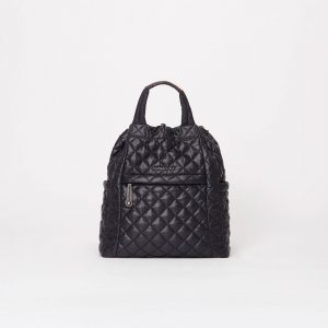 MZ Wallace Small Metro Convertible Backpack in Black