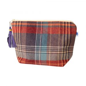 J&L Tweed Large Walker Makeup Bag