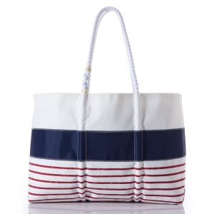 Sea Bags Red Mariner Stripe Tote – Large