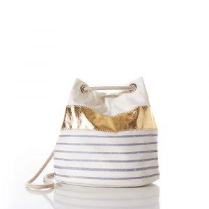Sea Bags Grey Mariner Stripe Convertible Bucket Bag