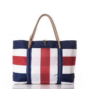 Sea Bags Navy and Red Pier Tote