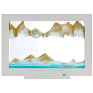 Moving Sand Art Silhouette Blue Ocean – By Klaus Bosch