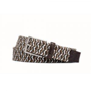 W. Kleinberg Tiramisu Stretch Belt with Croc Tabs
