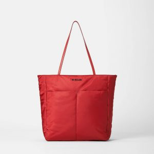 MZ Wallace Bowery Quatro Tote in Red Dahlia