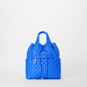 MZ Wallace Small Metro Convertible Backpack in Bright Blue