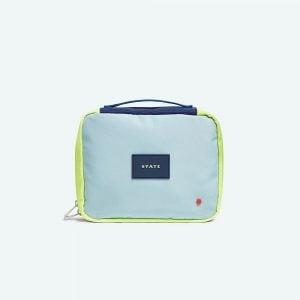 State Bags Laguardia Dopp Kit in Navy/Neon