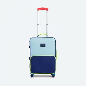 State Bags Logan Suitcase in Navy/Neon