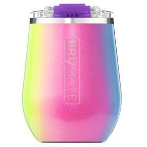 Brumate Uncork'd XL Müv 14oz Wine Tumbler – Glitter Rainbow