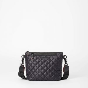 MZ Wallace Small Metro Scout Crossbody in Black