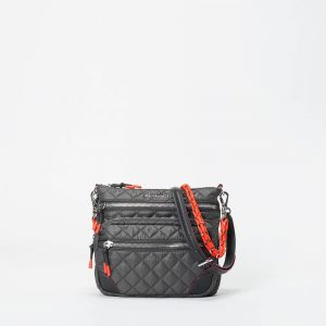 MZ Wallace Downtown Crosby Crossbody in Magnet & Flame