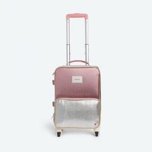 State Bags Mini Logan Suitcase Pink Metallic in Pink